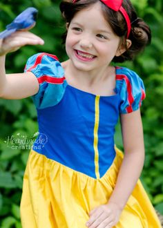 Snow White Princess Inspired Dress Sizes by HeartmadeCreations