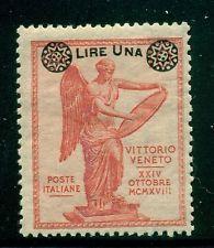 Italy,Scott #172 MH 1L/10c SCHG on Vittorio Veneto Issue CV$14+