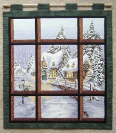 Attic Window - Snowy Chateau