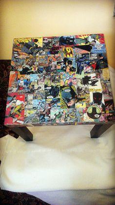 Batman Custom Comic Book Table by AWhimsicalHoot on Etsy, $110.00