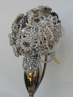 Brooch Bouquet - I only have six pieces so far, but every one has a story behind it.