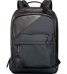 c4d9e1c5fea TUMI Public School leather-trim backpack