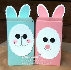 Bunny box video made with the gift bag punch board layering bunny box video made with the gift bag punch board layering ovals and 12 34 circle punches plus 12 x 12 subtles card stock pinterest punch negle Image collections