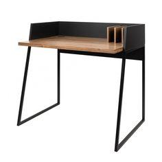 Schreibtisch Volga - Walnuss Holz / Schwarz