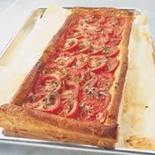 Tomato and Mozzarella Tart Recipe : Puff pastry, tomatoes and cheese - who could ask for anything more!