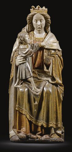 NORTHERN FRENCH OR FLEMISH, CIRCA 1500-1510  VIRGIN AND CHILD