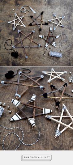Rustic Twig Stars | Stelle ornamentali di legno riciclato con cordino e filo…