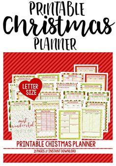 Printable Christmas Planner - includes 21 pages to get you organized for the holidays. INSTANT download!