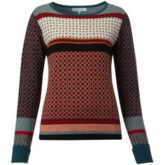 Dickins & Jones Ladies knitted intarsia jumper found on Polyvore