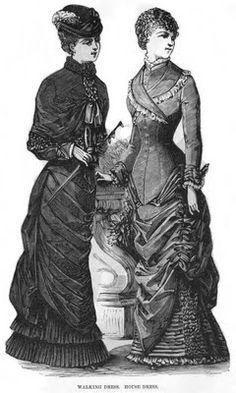 Late Victorian Era Clothing: Late Victorian Era Ladies' Dresses - September 1880 Peterson's Magazine