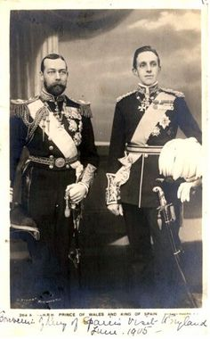 Prince George (later King George V, of Great Britain and King Alfonso XIII of Spain British Family, Spanish Royal Family, Spanish Royalty, English Royalty, Reine Victoria, Queen Victoria, European History, British History, Prince Albert