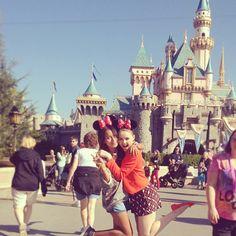 Kristina Bazan with friend In Disneyland, Los Angeles