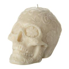 Et Al Designs Floral Skull Candle ($84) ❤ liked on Polyvore featuring home, home decor, filler, skull home decor, inspirational home decor, mexican home decor, skull home accessories and floral home decor