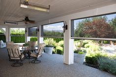 Executive Motorized Retractable Screens on back porch by Phantom Screens Screened Porch Designs, Screened In Patio, Back Patio, Backyard Patio, Front Porch, Enclosed Patio, Patio Under Decks, Porch Garden, Pergola Patio