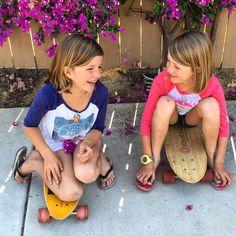 Sisters, skater girl, longboard, cute See this Instagram photo by @kelsaygroms • 367 likes