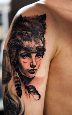Wolf Cool Arm Tattoo Designs For Men