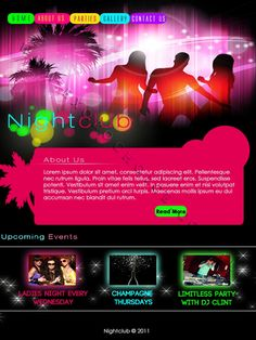 Web Page Design Ideas web design ideas Nightclub Webpage Design