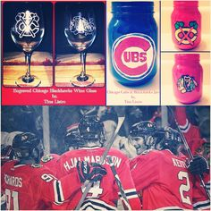The Chicago Blackhawks have eliminated the Predators in Round 1 of the Stanley Cup Playoffs! Time to restock my hand painted Mason Jars and engraved Wine Glasses!