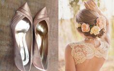 Look PERFEITO para noiva romântica ou boho chic com esse scarpin baixo da Spaço Criativo <3 Fornecedor selecionado Casar é um Barato!