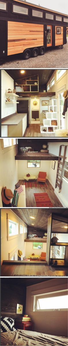 The Townsend: A 350 sq ft tiny house, designed and built by Woodsman Tiny Homes.