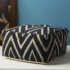 Kite Kilim Floor Pouf outdoor wicker is a...   Wicker Furniture  wickerparadise.com