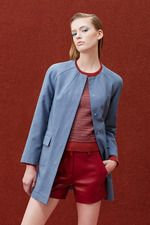 sharp neckline and interesting dart transfer Alexander Lewis Resort 2015 Collection on Style.com: Complete Collection