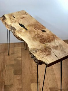 SOLD - Live Edge Maple Console Table, Modern Entryway Table, Slab Furniture, Sofa Table, Reclaimed W Live Edge Console Table, Modern Console Tables, Live Edge Table, Hallway Console, Modern Table, Entryway Table Modern, Entryway Tables, Table Plancha, Live Edge Tisch