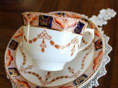 Colclough Imari taza taza y plato Vintage por TheVintageTeacup