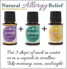 I LOVE this combination of oils for my year-round congestion! I prefer capsules. I know some people who take combination from 1 to 5 times a day. #allergyrelief