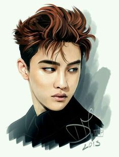 exo d.o kyungsoo fanart Disney Fan Art, Exo Art, Exo Fan Art, Fan Art Drawing, Art, Anime, Exo Anime, Fan Art