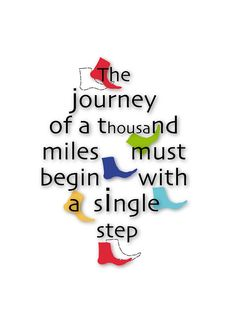 Put Your Best Foot Forward....The Journey