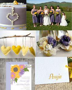 Yellow and Lilac Wedding Inspiration!