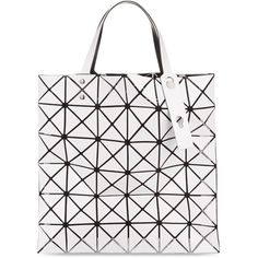 Bao Bao Issey Miyake Lucent Basic tote ($375) ❤ liked on Polyvore featuring bags, handbags, tote bags, white tote, white handbags, white tote purse, handbags totes and tote purses