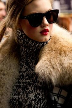 Winter glamour | Eyeglasses