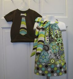 @Erin Chinicci - Matchy Matchy for bro and sis pics.  I love these little dresses for girls (and I'd wear them myself!)