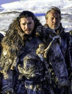 Game Of Thrones - Jon Snow and Jorah Mormont. Season 7. Episode 6.