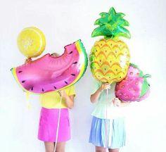 Globos de piña,melon y fresa