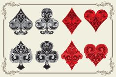 Ornament Playing Card by alit_design on Creative Market
