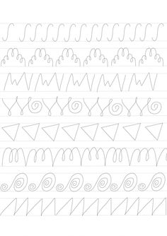 Calligraphy Worksheet, Calligraphy Tutorial, Lettering Tutorial, Shape Tracing Worksheets, Cursive Writing Worksheets, Cursive Handwriting, Handwriting Practice, Preschool Workbooks, Preschool Activities