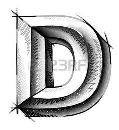 mano dibujar letras del bosquejo photo