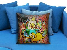 Adventure Time Jack And Finn painting art  These soft pillowcase made of 50% cotton, 50% polyester.  It would be perfect to decorate your home by using our super soft pillow cases on sofa, chair, bench or bed.  Customizable pillow case is both comfortable and durable, improving the quality of your sleep with these comfortable pillow case, take it home now!  Custom Zippered Pillow Cases available in 7 different size (16″x16″, 18″x18″, 20″x20″, 16″x24″, 20″x26″, 20″x30″, 20″x36″)