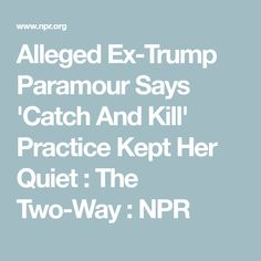 Alleged Ex-Trump Paramour Says 'Catch And Kill' Practice Kept Her Quiet Karen Mcdougal, National Enquirer, The New Yorker, Two By Two, Parenting, Sayings, News, Lyrics, Childcare