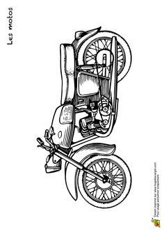 Les 68 Meilleures Images Du Tableau Coloriages De Motos Et Kartings