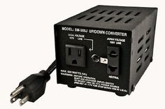 Heavy-Duty Voltage Converters: Simran Sm-500J Japanese 500 Watt Step Up / Down Voltage Transformer Converts J BUY IT NOW ONLY: $50.57