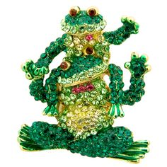 Happy #Frogs Crystal Brooch Was  £32.00 Now £16.00 You Save: 50%