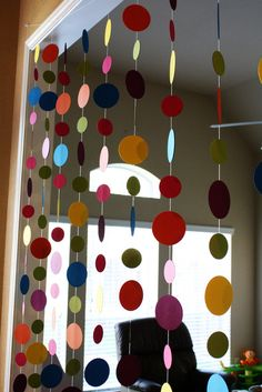 Colorful dots garland #garland