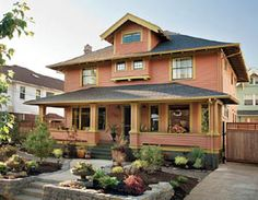 The landscape was designed to bring out the earthy historic colors found in the freshly completed paint job.