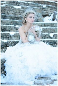 winter wedding #wedding #inspiration #details #winter #dress #snow