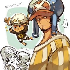 Trafalgar D. Water Law and Tony Tony Chopper One piece One Piece Manga, One Piece Gif, One Piece Crew, One Piece Figure, One Piece Fanart, One Piece Cosplay, Manga Anime, Anime One, One Piece Seasons