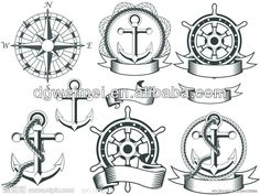 Interest tattoo ideas and design - Nautical Compass And Rope Tattoos Sketch Photo - 1. If you want to make a tattoo, look how it looks from other people!